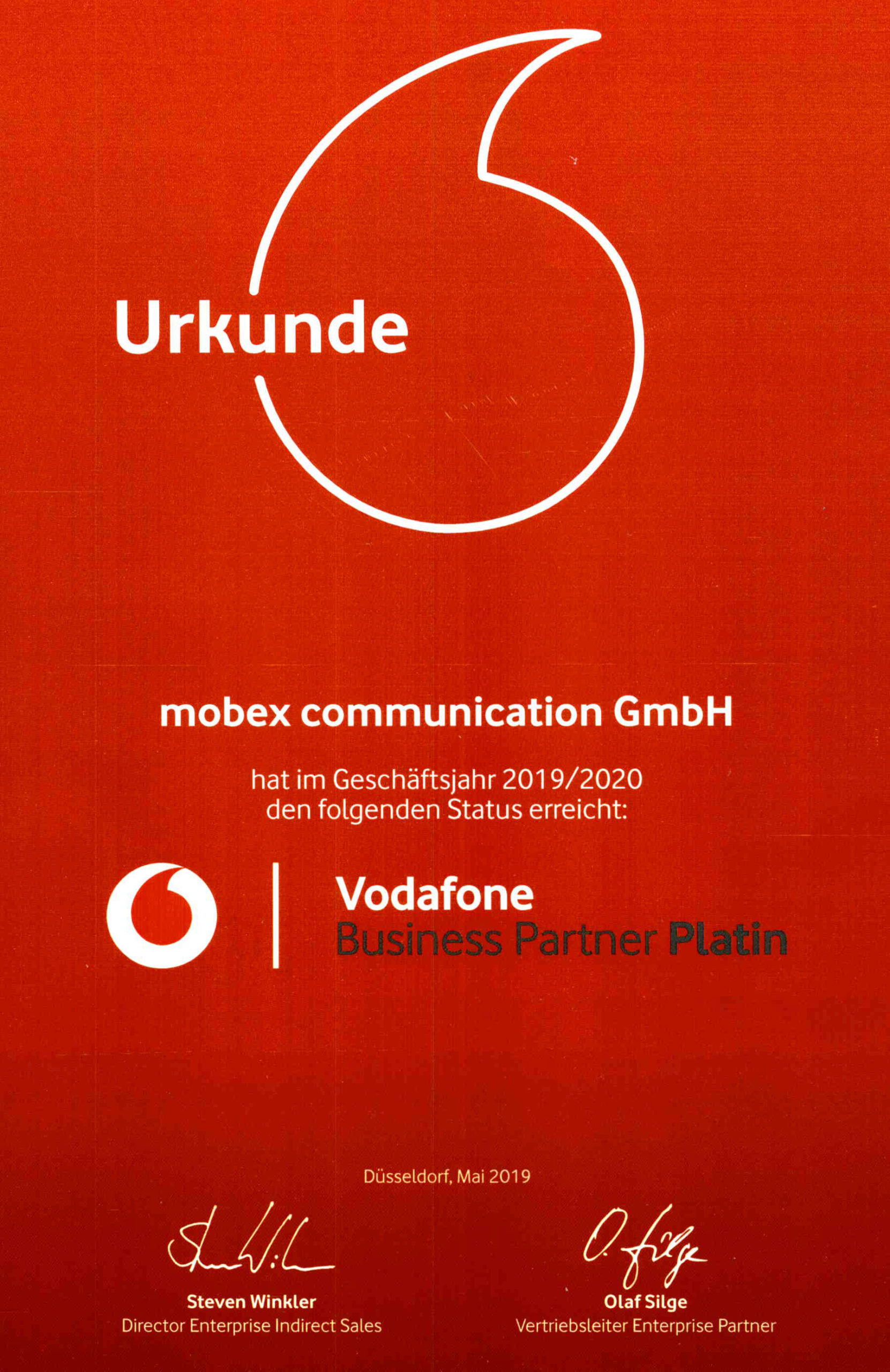 vodafone Business Partner Platin